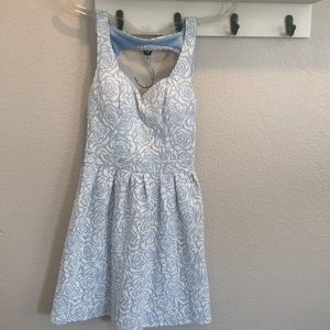 Dresses & Skirts - Blue and white textured Dress